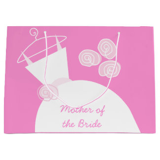 Wedding Gown Pink Mother of Bride large Large Gift Bag