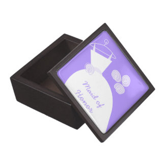 Wedding Gown Purple 'Maid of Honor' premium Premium Trinket Box