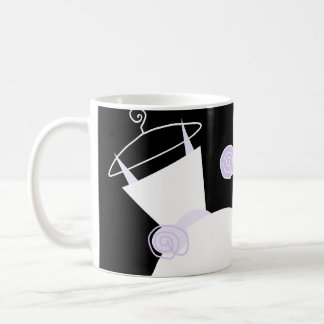 Wedding Gown Purple 'Mother of the Bride' black Basic White Mug