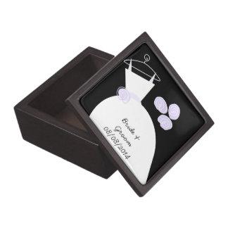 Wedding Gown Purple 'Names' black premium Premium Gift Box