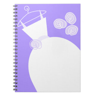 Wedding Gown Purple notebook