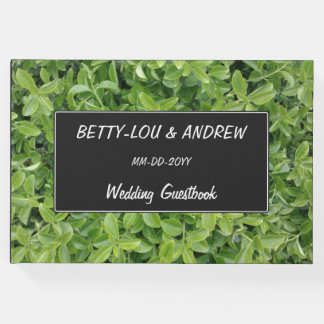 Wedding — Green Hedge Shrub Type Plant Photograph Guest Book