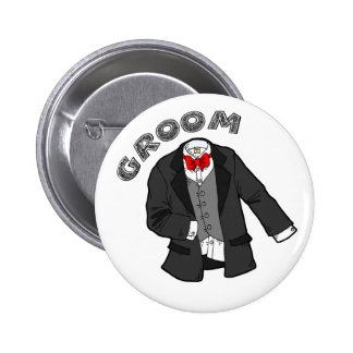 Wedding Groom Button