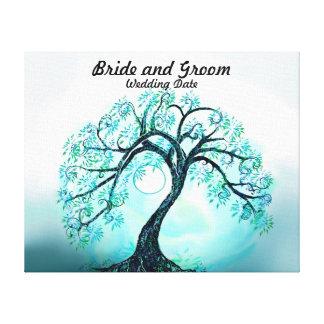 Wedding Guest Book Alternative Blue Tree of Life