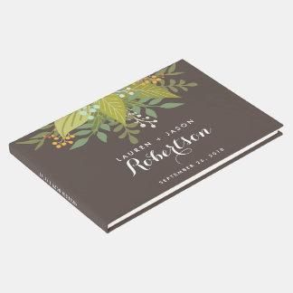 Wedding Guest Book, Boho Floral, garden wedding