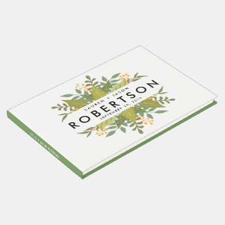 Wedding Guest Book, Boho Floral, garden wedding Guest Book