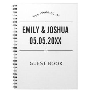 Wedding Guest Book Simple Custom Template