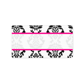 Wedding Guest Mailing Labels Damask