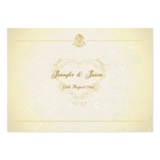 Wedding Guestbook Cards Vintage Parchment Paper Business Card Template