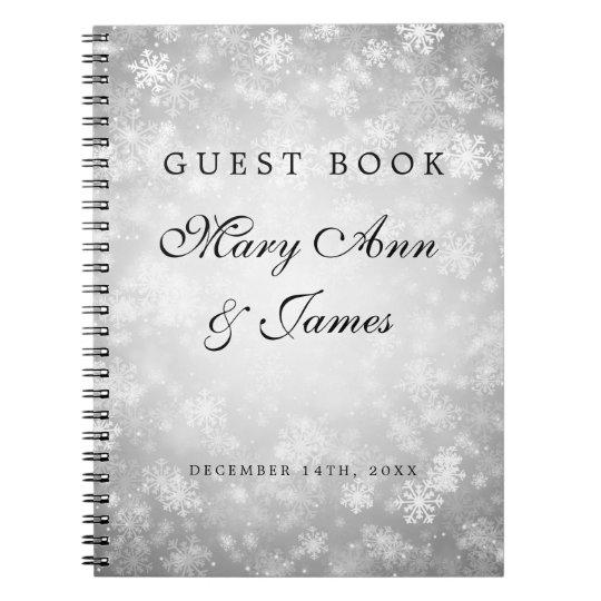 Wedding Guestbook Silver Winter Wonderland Notebook
