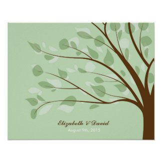 Wedding Guestbook Tree Poster