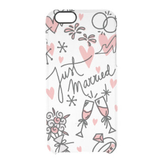 Wedding Hand Lettered Just Married iPhone 6 Clear Clear iPhone 6/6S Case