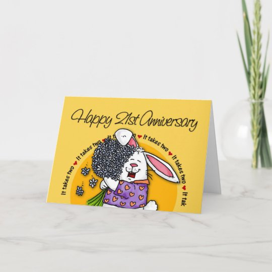 21st Wedding Anniversary Gift Ideas: Wedding - Happy 21st Anniversary Card