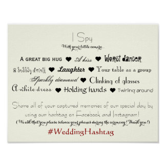 Wedding Hashtag Poster