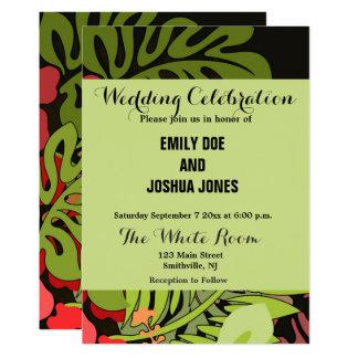 Wedding Hawaii Luau Custom Template Floral Card