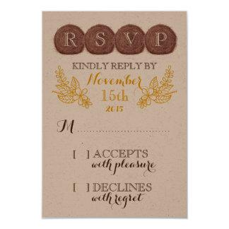 Wedding Hay Bales RSVP Card