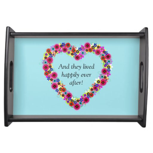"""Wedding Heart """"And They Lived Happily Ever After"""" Serving Platter"""