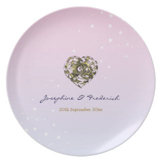 Wedding Heart Party Plate