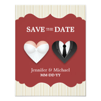 Wedding Hearts - Funny Save the Date invitation