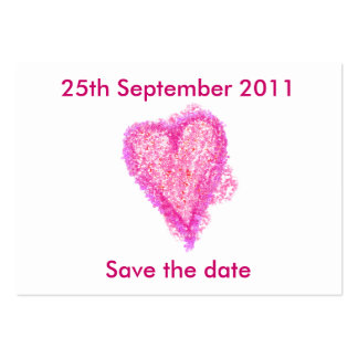 Wedding hearts Save the date Business Card Template