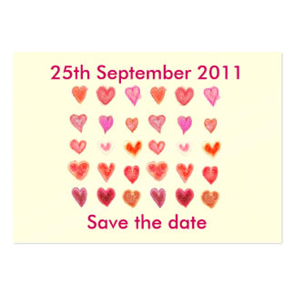 Wedding hearts Save the date Business Card Templates
