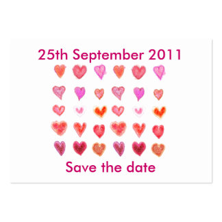 Wedding hearts ... Save the date Pack Of Chubby Business Cards