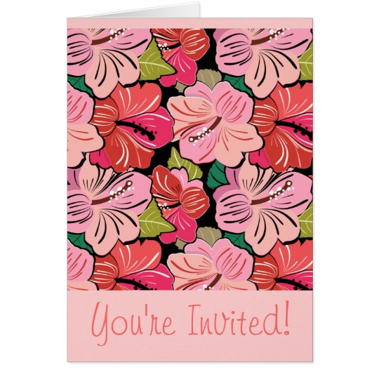 Wedding Hibiscus Party Invitation Greeting Card