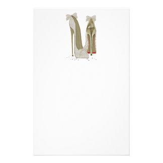 Wedding High Heels Art Personalized Stationery