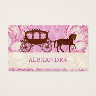 Wedding Horse & Carriage - Custom Text Business Card
