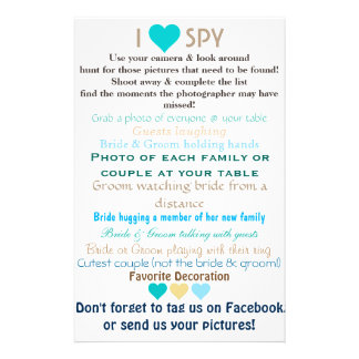 Wedding I Spy 14 Cm X 21.5 Cm Flyer