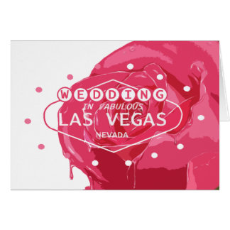 WEDDING IN FABULOUS LAS VEAS RED & PINK COLOR ROSE GREETING CARD