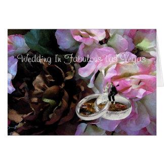 Wedding In Fabulous Las Vegas B&G Wedding Bands Ca Greeting Card