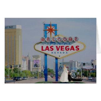 WEDDING IN FABULOUS LAS VEGAS Bride/Groom CARD