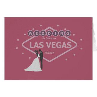 WEDDING In Fabulous Las Vegas Bride & Groom Card