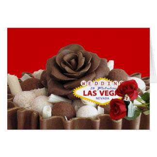 Wedding In Fabulous Las Vegas Bride & Groom Chocol Greeting Card