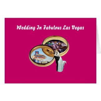 Wedding In Fabulous Las Vegas Bride & Groom, Rings Greeting Card