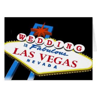 WEDDING IN FABULOUS LAS VEGAS CARD