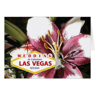 WEDDING IN FABULOUS LAS VEGAS FLORAL WITH BRIDE &  GREETING CARD