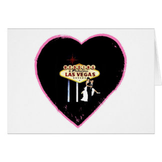 WEDDING In Fabulous Las Vegas Heart Shape with Bri Greeting Card