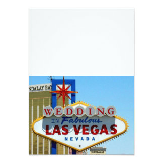 "WEDDING In Fabulous Las Vegas Invitations 5"" X 7"" Invitation Card"