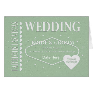 WEDDING In Fabulous Las Vegas One Love One Heart C Greeting Card