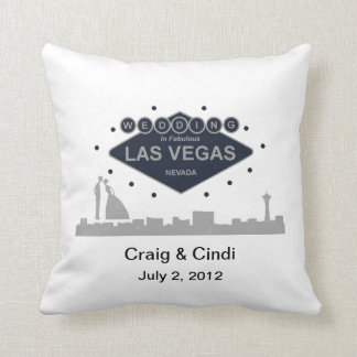 Wedding In Fabulous Las Vegas Pillow