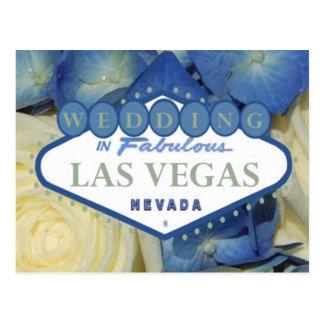 WEDDING IN Fabulous Las Vegas Postcard Floral