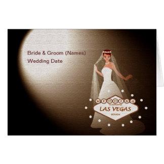 "Wedding In Fabulous Las Vegas ""Spotlight Bride""Car Greeting Card"