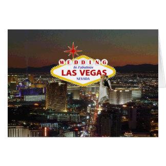 Wedding In Fabulous Las Vegas with Bride & Groom C Greeting Card