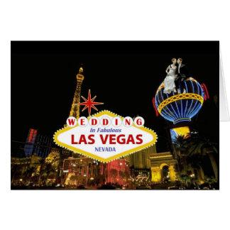 Wedding In Fabulous Las Vegas  with Bride & Groom  Card