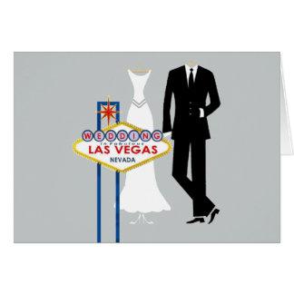 Wedding in Las Vegas Bride & Groom Card
