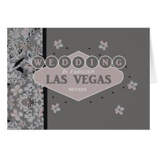 Wedding In Las Vegas Card