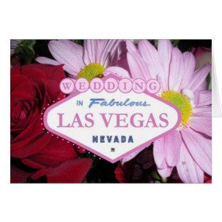 Wedding In Las Vegas Card Flowers