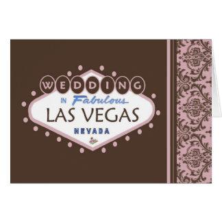 WEDDING In Las Vegas Paisley Card